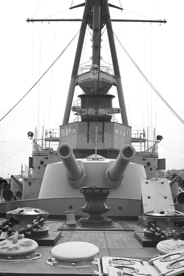 gammal slagskepp royaltyfri fotografi