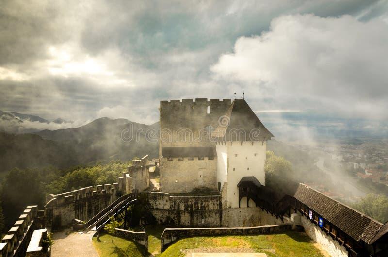 Gammal slott av Celje, Slovenien royaltyfria foton