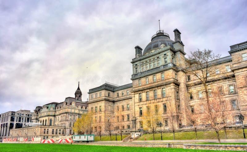 Gammal slott av rättvisa på Champ de Mars i Montreal, Kanada royaltyfria bilder