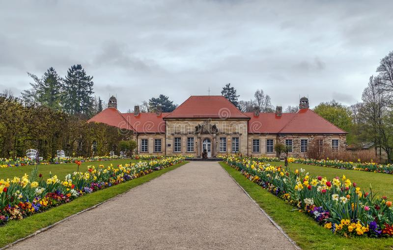 Gammal slott i eremitboningen, Bayreuth, Tyskland royaltyfri fotografi