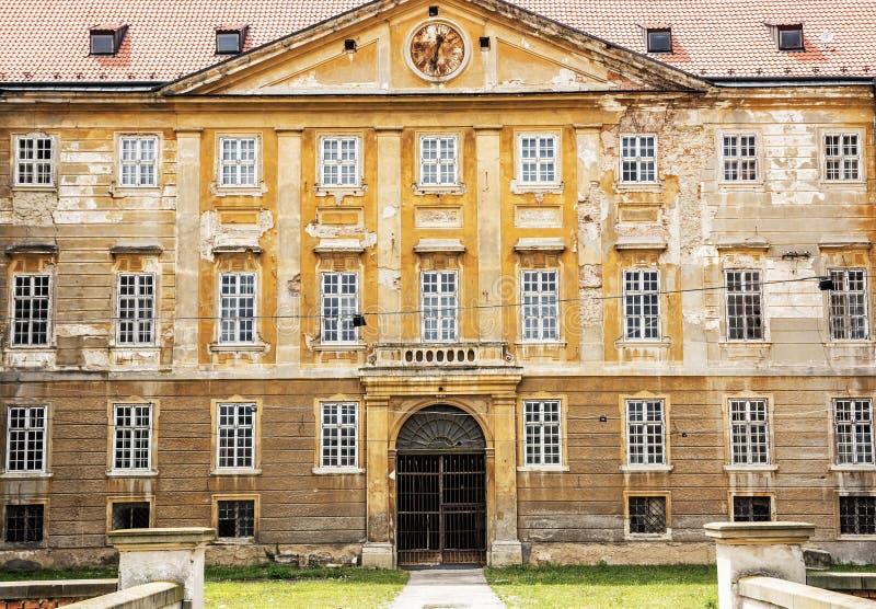 Gammal slott i Holic, Slovakien, arkitektoniskt tema arkivbild