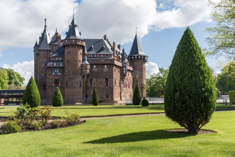Gammal slott i Nederländerna Holland fotografering för bildbyråer