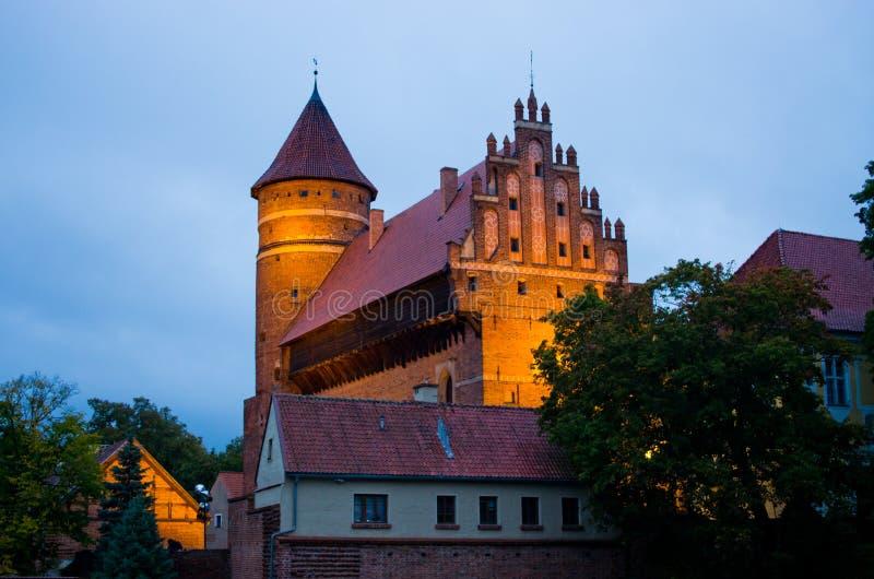 Gammal slott i Olsztyn, Polen royaltyfri fotografi