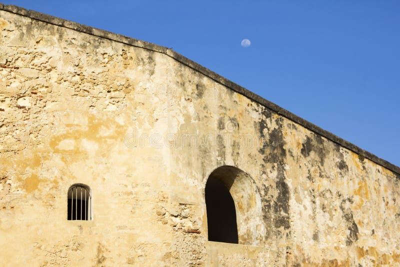 Gammal slott i San Juan Puerto Rico arkivfoto