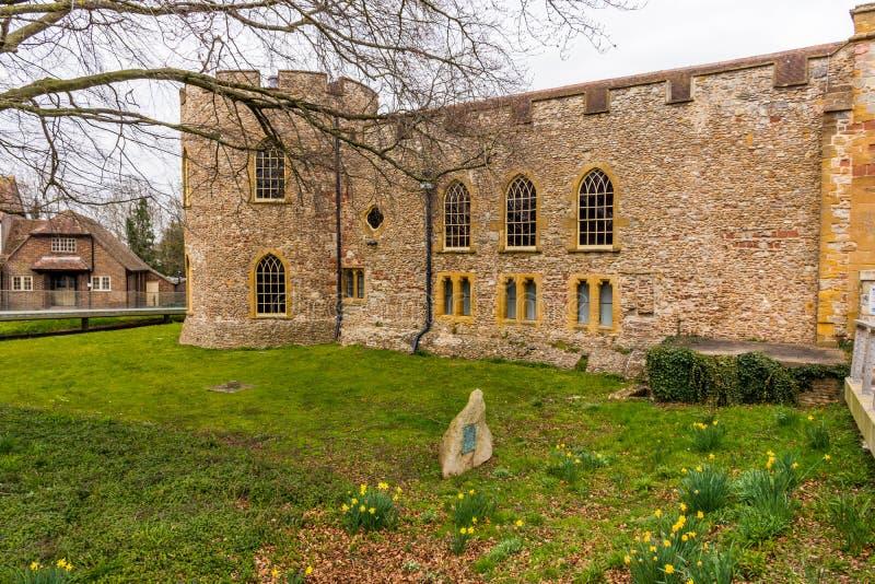 Gammal slott i Somerset arkivbild