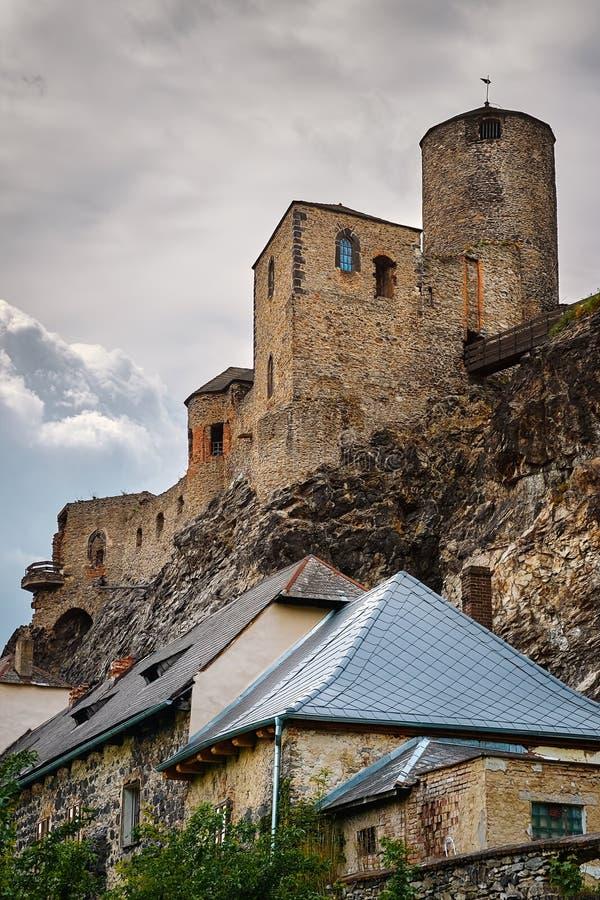 Gammal slott i Ustien nad Labem fotografering för bildbyråer