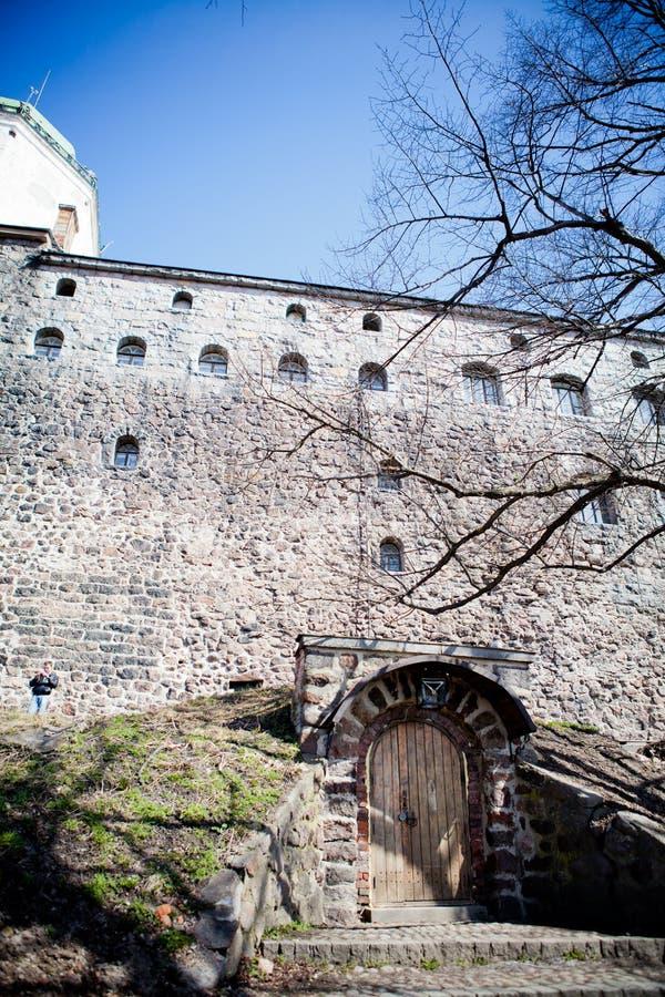 Gammal slott i Vyborg royaltyfri bild