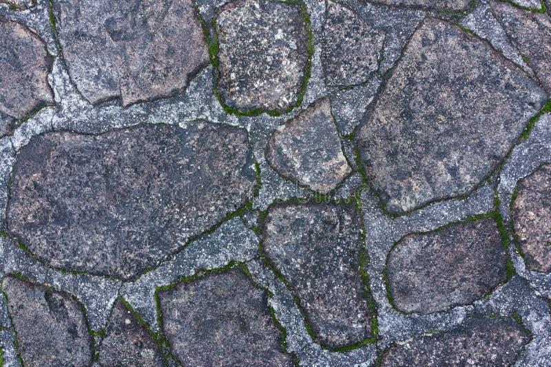 Gammal smuts vaggar stengolvmodellen som bakgrund i Japan arkivfoton