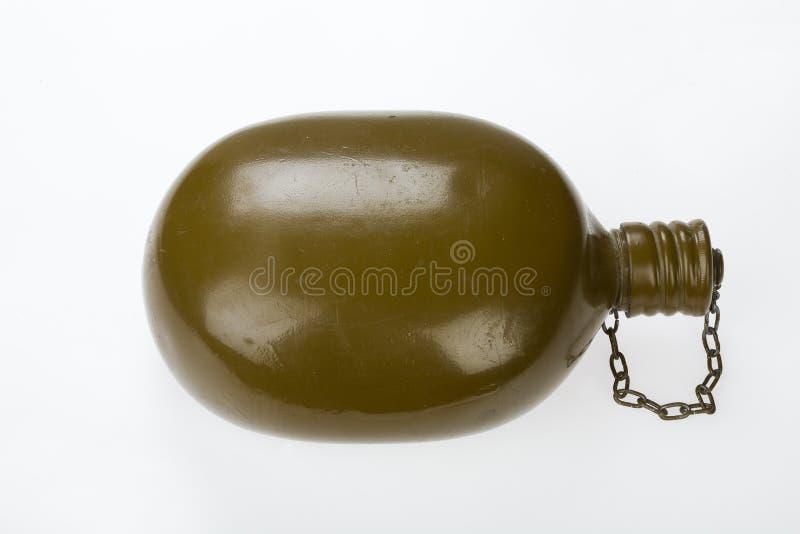 gammal soldat för flaska arkivfoto