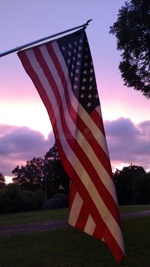 gammal solnedgång för härlighet arkivbilder