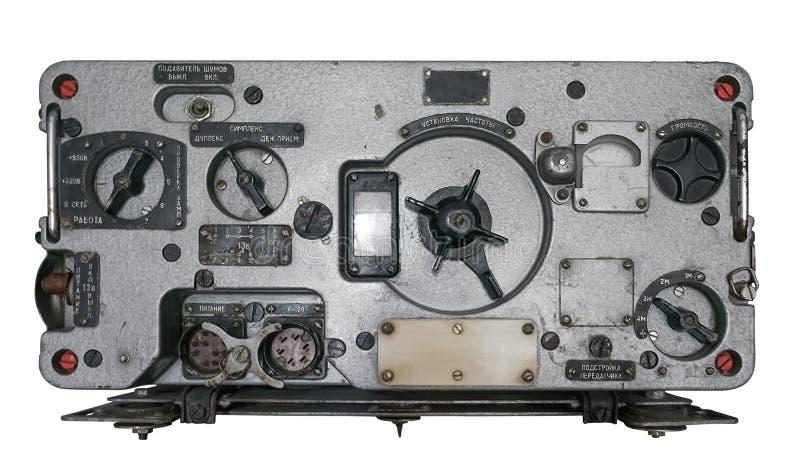 Gammal sovjetisk militär radiomottagare royaltyfri bild