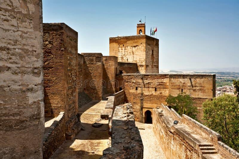 gammal spanjor för slott royaltyfri fotografi
