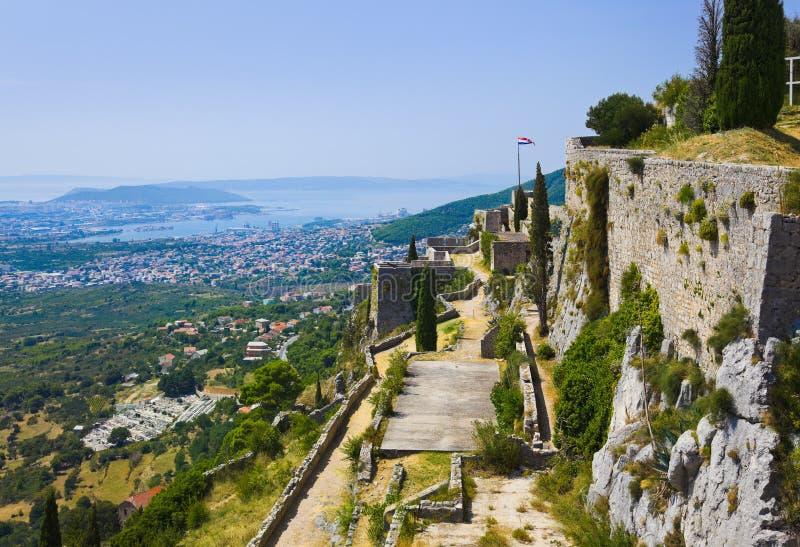 gammal split för croatia fort arkivbilder