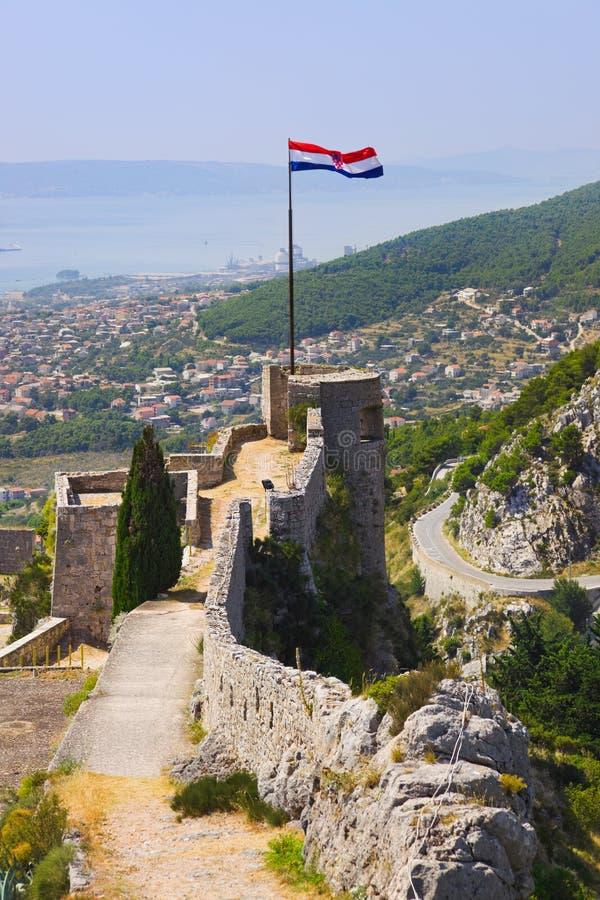 gammal split för croatia fort royaltyfria bilder