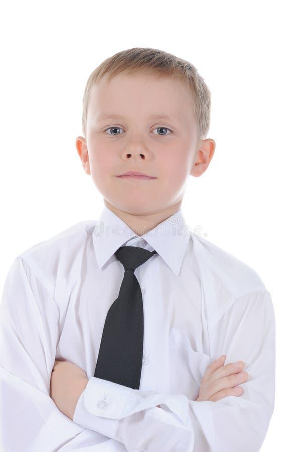 gammal stående för pojke sju år royaltyfri bild