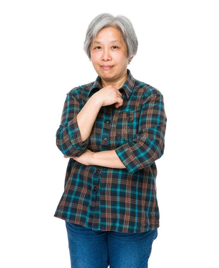 gammal ståendekvinna fotografering för bildbyråer