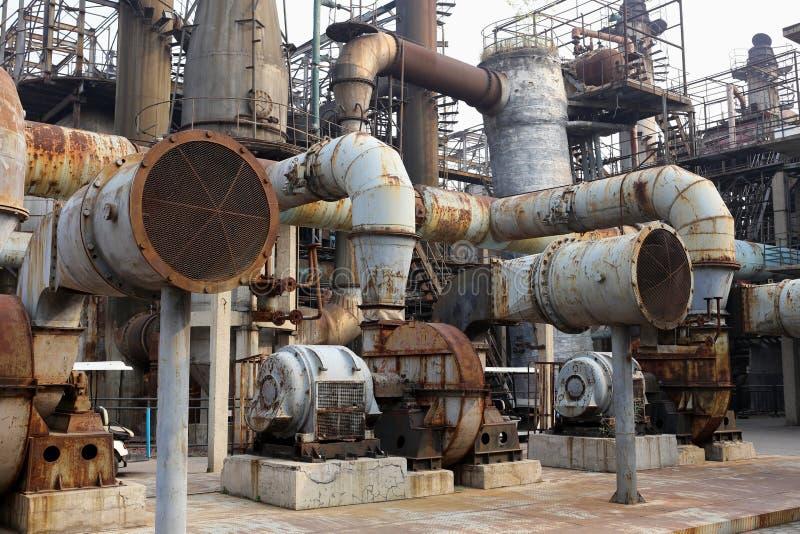 Gammal stålfabrik arkivfoton