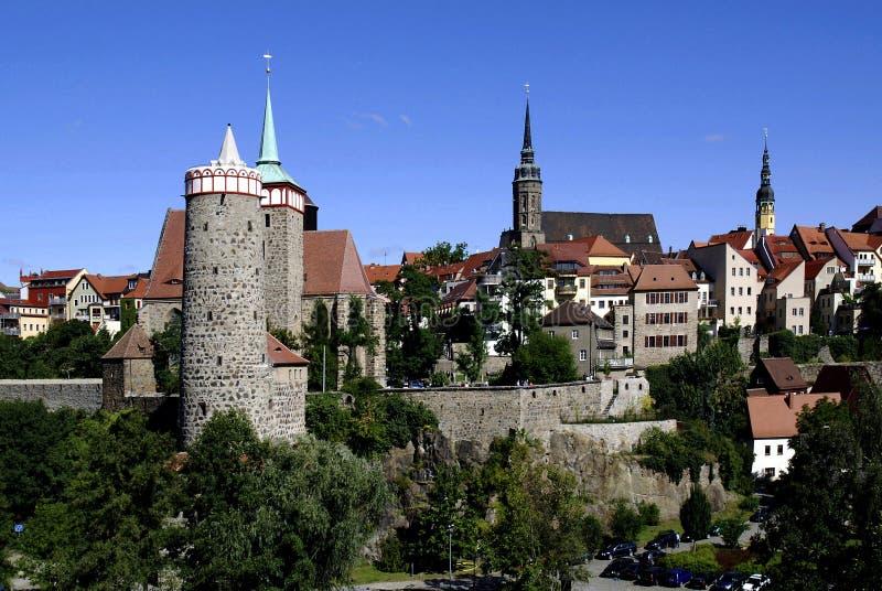 Gammal stad av Bautzen i Sachsen - Tyskland royaltyfri bild