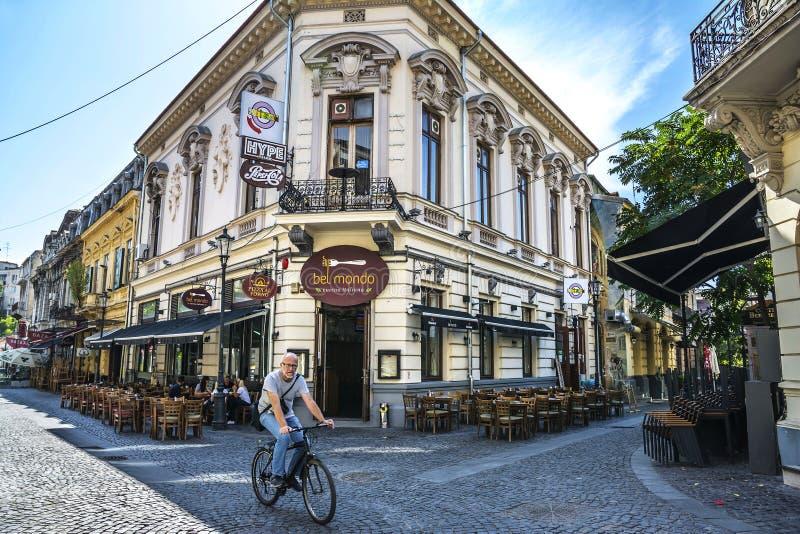 Gammal stad av Bucharest, Lipscani område arkivbilder