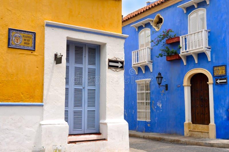 Gammal stad av Cartagena, Colombia royaltyfria bilder