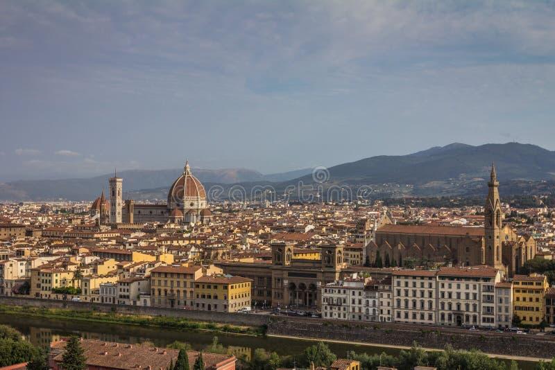 Gammal stad av Florence i Italien arkivfoton