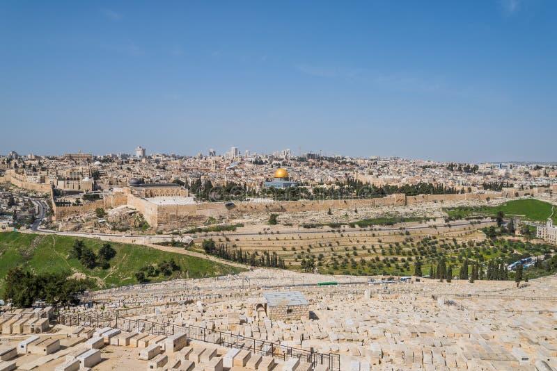 Gammal stad av Jerusalem, Israel arkivfoton