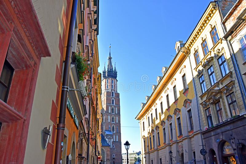 Gammal stad av Krakow royaltyfri foto