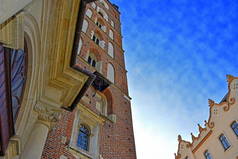 Gammal stad av Krakow arkivfoto