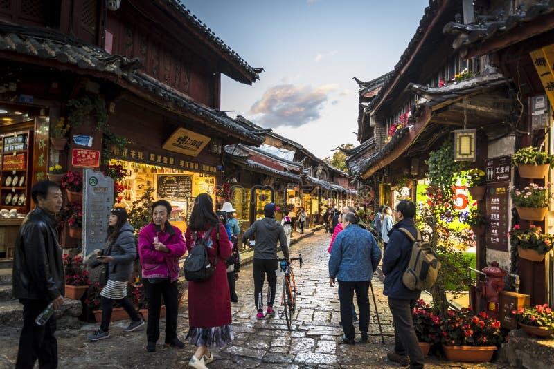 Gammal stad av Lijiang, Yunnan landskap, Kina royaltyfria foton