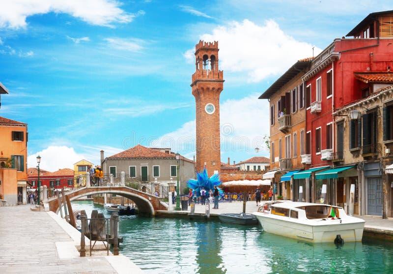 Gammal stad av Murano, Italien royaltyfria foton