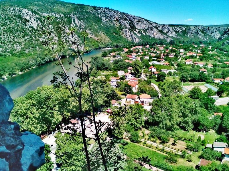 Gammal stad av stenar, PoÄ itelj - Bosnien och Hercegovina royaltyfria bilder