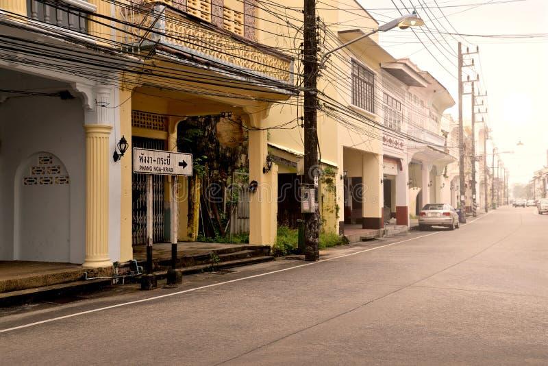 Gammal stad av Takuapa, Phang Nga, Thailand royaltyfria bilder