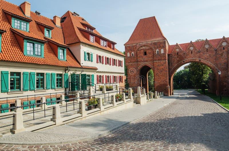 Gammal stad av Torun (Polen) royaltyfri foto