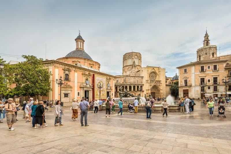 Gammal stad av Valencia, Spanien royaltyfria bilder