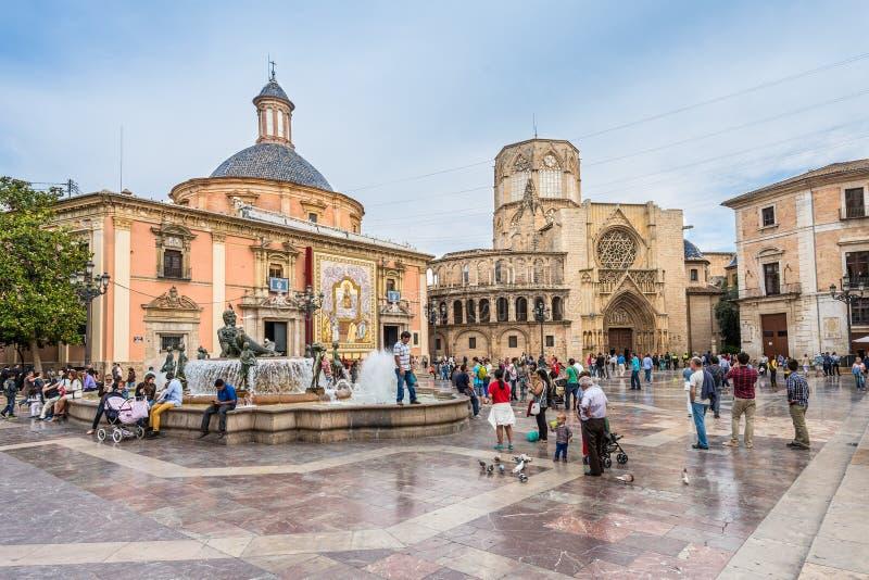 Gammal stad av Valencia, Spanien royaltyfria foton