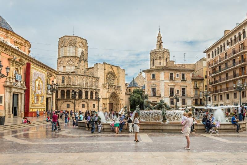 Gammal stad av Valencia, Spanien arkivfoton