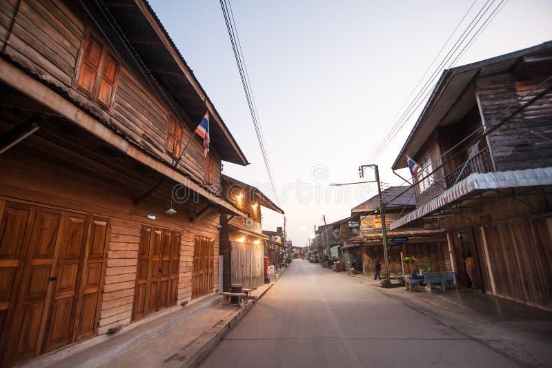 Gammal stad, Chiang Karn arkivfoto