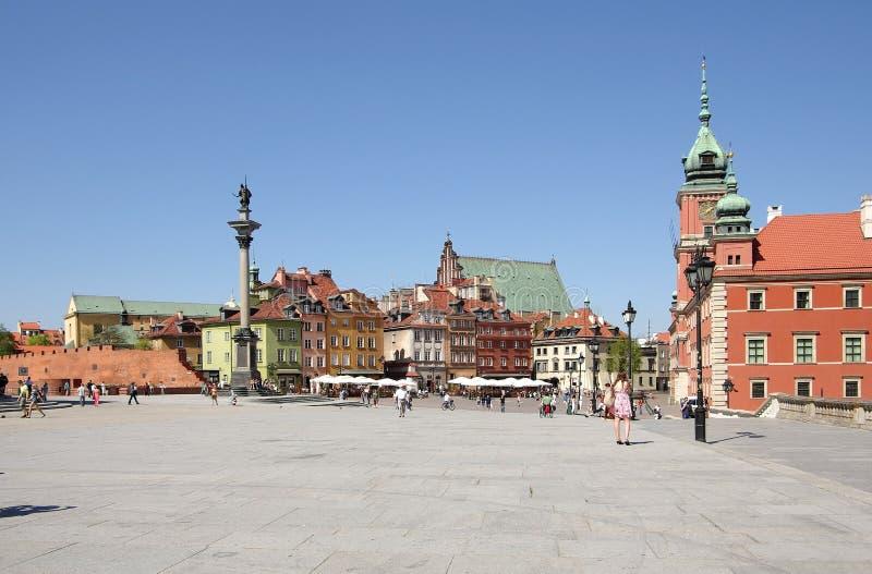 Gammal stad, den kungliga slotten och Sigsmunds kolonn arkivfoto