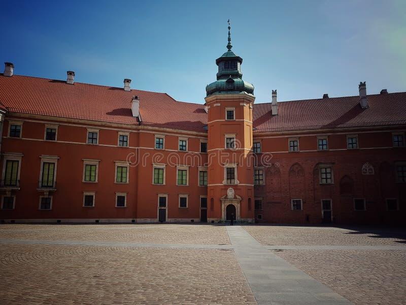 Gammal stad för Warszawa, kunglig slott arkivbild