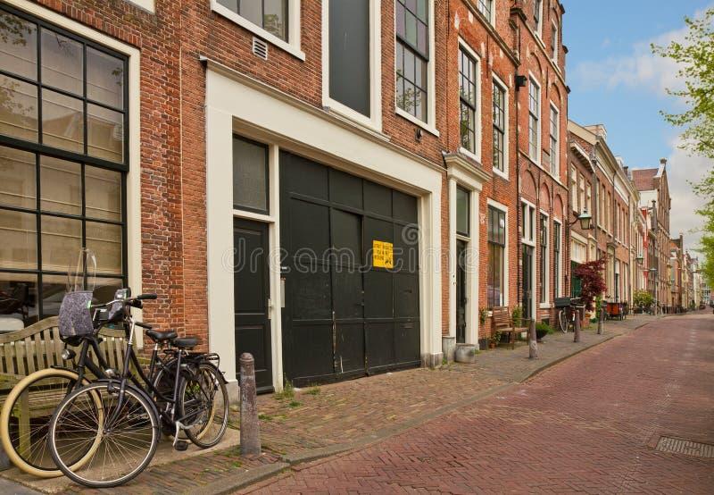 Gammal stad, Haarlem, Nederländerna royaltyfria foton
