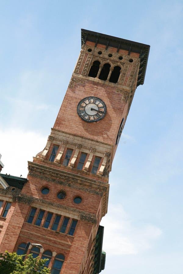 Gammal stad Hall Bell Tower i Tacoma Washington royaltyfri bild