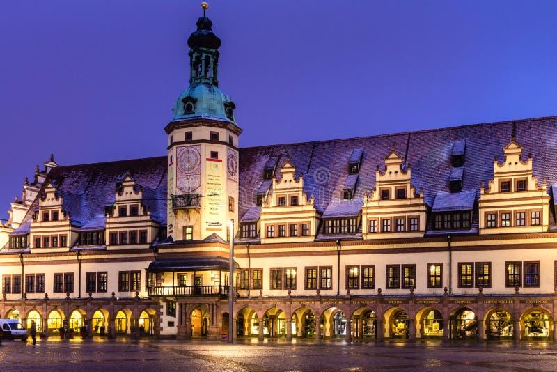 Gammal stad Hall Leipzig royaltyfri fotografi
