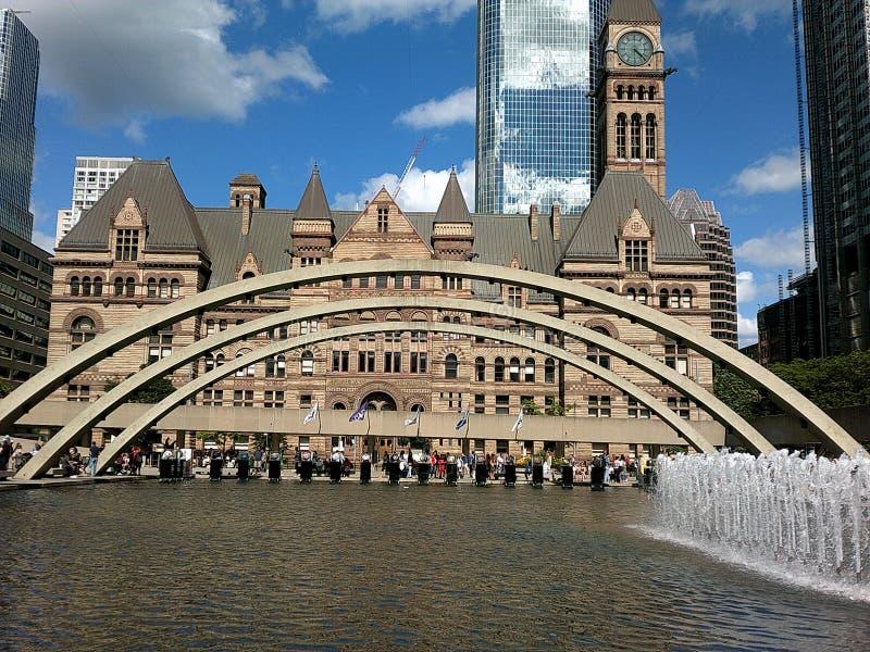 Gammal stad Hall Toronto arkivfoto