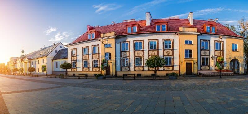 Gammal stad i Bialystok, nordöstra Polen royaltyfri fotografi