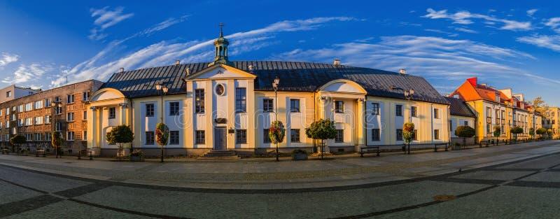 Gammal stad i Bialystok, nordöstra Polen arkivfoto