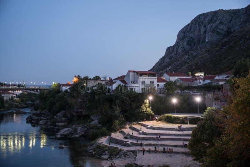 Gammal stad i Mostar, Bosnien och Hercegovina arkivbild