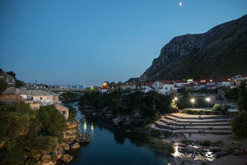 Gammal stad i Mostar, Bosnien och Hercegovina arkivfoto
