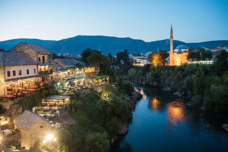 Gammal stad i Mostar, Bosnien och Hercegovina arkivbilder