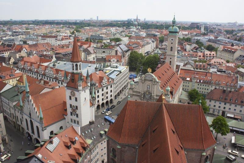 Gammal stad i Munich, Tyskland - 20 06 2016 arkivbild