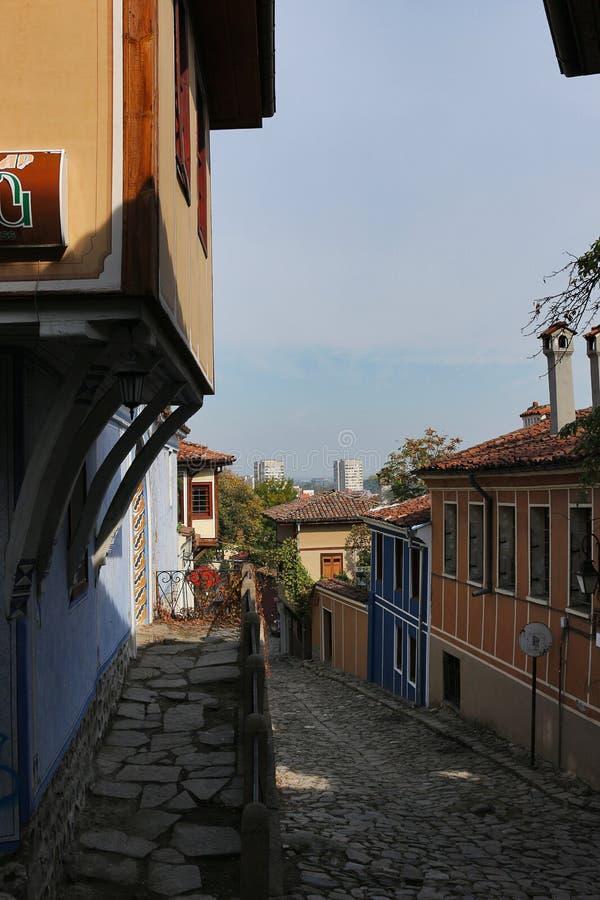 Gammal stad i Plovdiv fotografering för bildbyråer